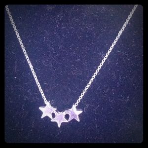 Star necklace silver color